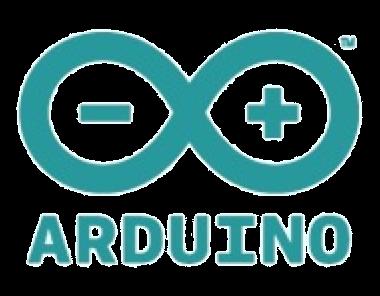 El logotipo de Arduino es el símbolo de infinito con un - y un + en su interior