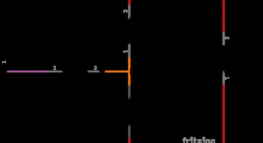 Esquema electrónico de un pulsador
