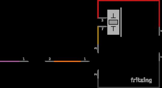 Esquema eléctrico de un zumbador con un transistor