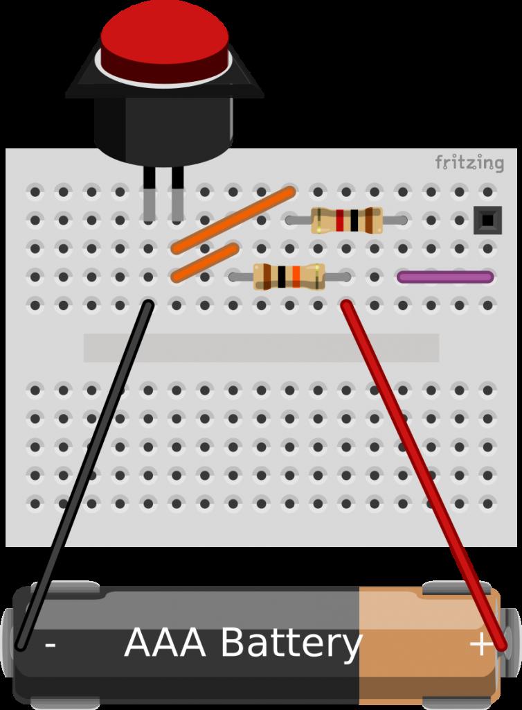Montaje físico de un pulsador