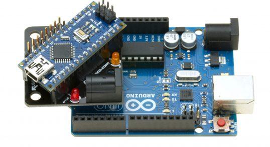 FuracosNano conectado en un Arduino Uno